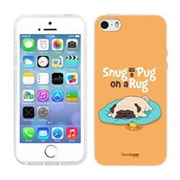 Head Case Designs Snug Piper The Pug Soft Gel Back Case Cover for Apple iPhone 5 5s