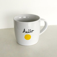 Hello Sunshine Mug by littlecassalina on Etsy
