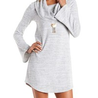 Brushed French Terry Cowl Neck Dress