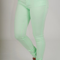 Flirty Little Secrets Pants: Mint