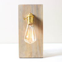 Rectangle Wall Sconce- Wooden Wall Lamp, Modern Lighting, Sconce, Plug In Sconce