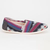 Toms Multi Knit Shearling Womens Classic Slip-Ons Multi  In Sizes
