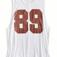 AEO Women's Don't Ask Why Muscle T-shirt