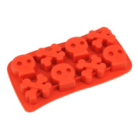 New 8 Hole Bone Skull Skeleton Cake Mold DIY Silicone Molds FDA Cake Decorating Tools Cake Mould Kitchen Accessories T1503