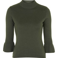 Fluted Cuff Top - Topshop