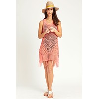 Allison New York Crochet Fringe Trim Coverup