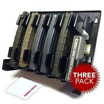 Mag Storage Solutions AR-15 5.56 .223 MagHolder Magazine Holder Storage Rack Magpul AR15