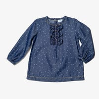 Egg Girls Ruffle Front Shirt - W4CM1027 - FINAL SALE