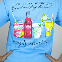 Refreshments Of the South Simply Southern Tee Shirt