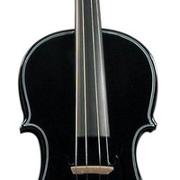 Merano Full Size Black Violin with Case & Extras