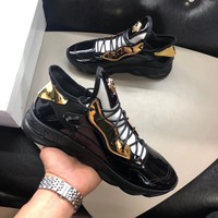Versace Men Fashion Sneakers Sport Shoes Black