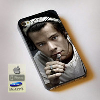 Cool Photo Harry Style One Direction - Print on Hard Plastic, available for iPhone and Samsung Galaxy. Choose for your device