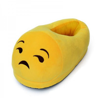 Fashion Emoji Plush Stuffed Slippers Cartoon Winter Indoor Slipper