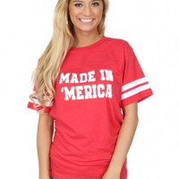 Made in 'Merica Varsity Tee | Monday Dress Boutique