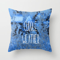 Cuddle Weather Throw Pillow by ALLY COXON