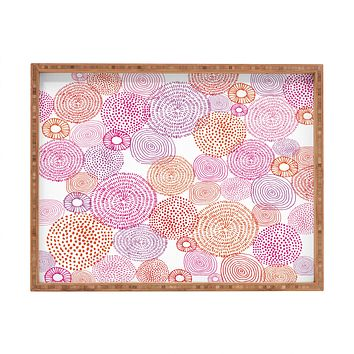 Camilla Foss Circles In Colours I Rectangular Tray