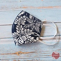 Hawaiian Face Mask • Navy Island