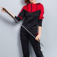 2018 Autumn Brand Overalls Sports Fitness Tracksuit Sportwear Sets Hoodie Sweat Suits Costumes For Women With Sparkles Plus Size