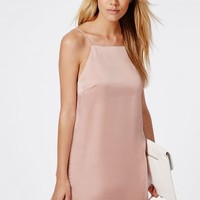 Missguided - Silk Cami Mini Dress Powder Pink