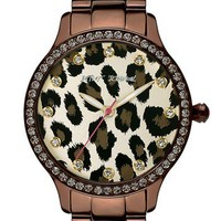 Betsey Johnson Leopard Print Dial Watch   Nordstrom - Love!!   Chic Fashion Pins : The Cutest Pins Around!!!