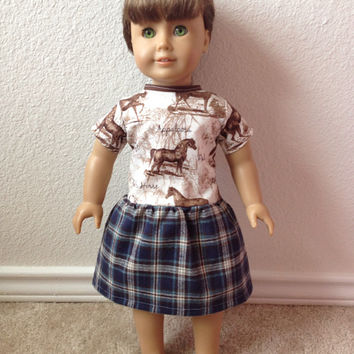Horse Lovers Dress: fits American Girl and most 18 in dolls