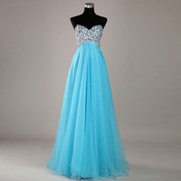 Charming 2012 Chiffon Beaded Off shoulder Prom Pageant Dresses Evening Gown NEW