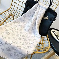 LV Trending Woman Stylish Accessories Sunscreen Cape Scarf Scarves(3-Color) White I-TMWJ-XDH