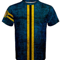 Fallout 4 Inspired Shirt - Men T-shirt- Super Soft Fallout 4 video game Vault Suit tee Vault 111 Cosplay or Costume Casual wear