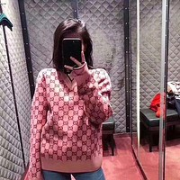 GG Fashion Letter Pullover Sweater