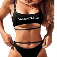 Balenciaga+Lv+Gucci+Fendi Two Piece Strappy Bikini Swimsuit-1