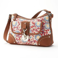 Chaps Floral Hobo (Red)