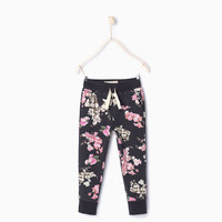 FLORAL PLUSH TROUSERS