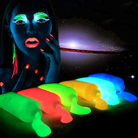 Glow Face & Body Paint Painting Halloween Party Makeup Art Kit Hand 10 Colors TB