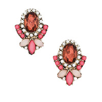 Modern Day Marie Antoinette Studs in Hot Pink