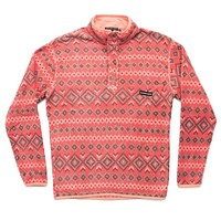 Pisgah Aztec Pullover in Washed Red by Southern Marsh