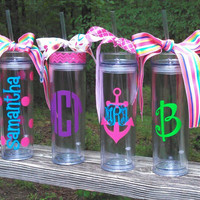 Personalized/Monogrammed Tall and Skinny Acrylic Tumbler
