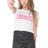 Brandy ♥ Melville |  Boo You Whore Top - Graphics