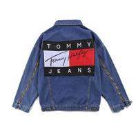 Tops Fashion Hip-hop Denim Zippers Jacket [11218585799]