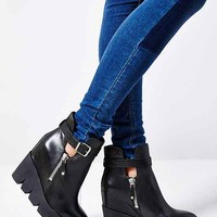 Ash Ricky Platform Wedge Boot- Black