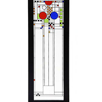 Frank Lloyd Wright Playhouse Stained Glass - Center