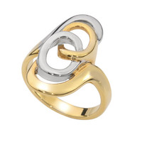 Infinity Ring Plated with Gold & White Rhodium Handmade by Jennifer Love