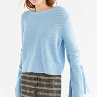 Silence + Noise Justine Extreme Bell Sleeve Sweater | Urban Outfitters
