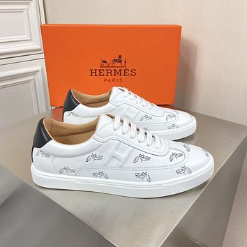 HERMÈS 2021Men Fashion Boots fashionable Casual leather Breathable Sneakers Running Shoes09170cx