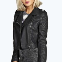 Holly Crop Faux Leather Jacket