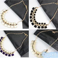 New Ladies Women's Alloy Gold Plated Bib Chunky Collar Chain Necklace Jewelry for Party Wedding 4 Colors = 1946302532