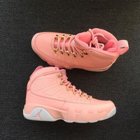 "New Color ""Pink"" Air jordan 9 retro sneaker ""GS"""