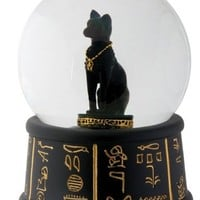 Egyptian Bastet Water Globe (65mm) Collectible Statue Figurine