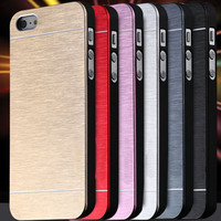 Cool Metal Gold Case For Apple iphone5 5S 5G Aluminum Plastic Hard Back Phone Accessories Brand Logo Luxury Cover for iphone 5