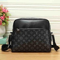 Louis Vuitton LV Men Fashion Office Leather Crossbody Shoulder Bag Satchel