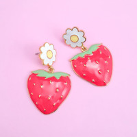 Strawberry Field Earrings
